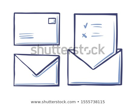 envelope closed letter back front view voting page stock photo © robuart