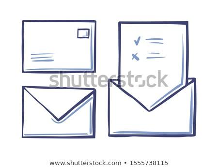 Boríték zárva levél hát elöl kilátás Stock fotó © robuart