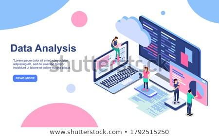Affaires analytics modernes coloré isométrique pourpre Photo stock © Decorwithme