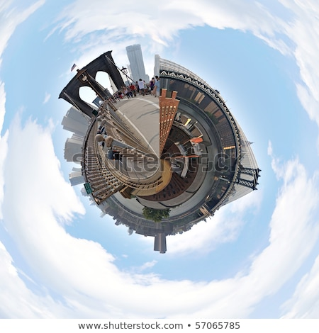 urbaine · planète · isolé · blanche · miniature - photo stock © arenacreative