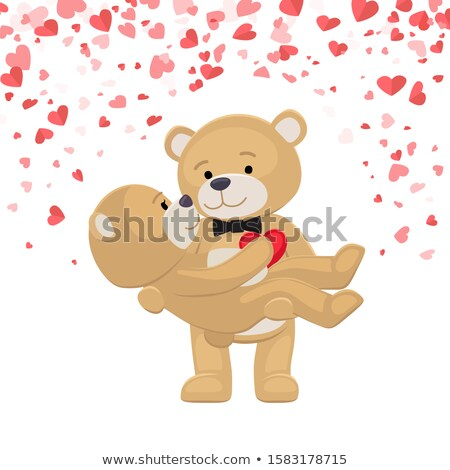 Romantic Male Bear Holding Female Animal on Arms Stock photo © robuart