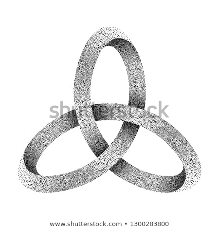 Oneindigheidssymbool halftoon stippel illustratie geïsoleerd witte Stockfoto © kyryloff