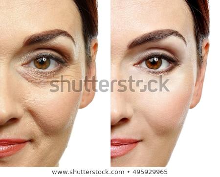 nariz · cirurgia · plástica · vermelho · verde · mulher - foto stock © andreypopov