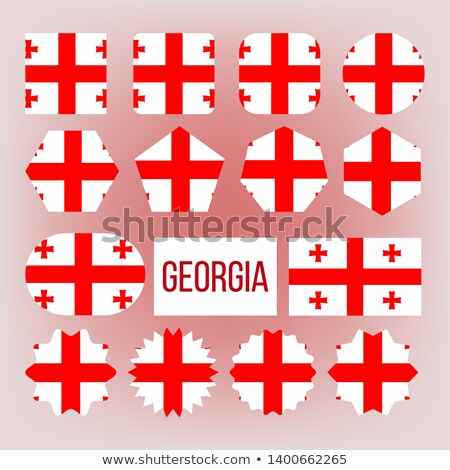 Georgia Flag Collection Figure Icons Set Vector Stock photo © pikepicture
