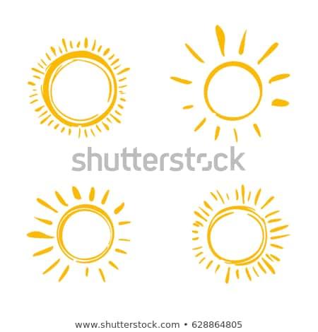 coleção · verão · laranja · nascer · do · sol · desenho · animado · luz · do · sol - foto stock © marysan