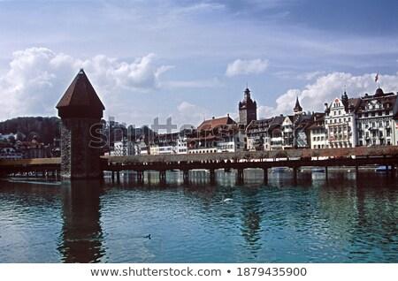 lac · bord · de · l'eau · célèbre · vue · belle · paysages - photo stock © xbrchx
