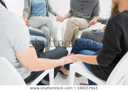 Female Therapist Speaking To Group At Therapy Section Stock photo © AndreyPopov