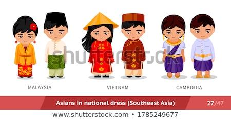 Set of malaysian boy Stock photo © bluering