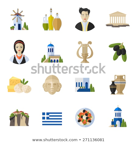 Greece Landmarks and cultural features . Stock photo © netkov1