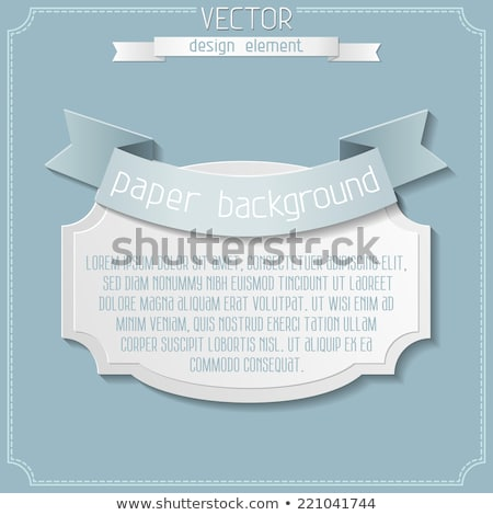 Classical Promotional Title Ribbon Vintage Vector Stock photo © pikepicture