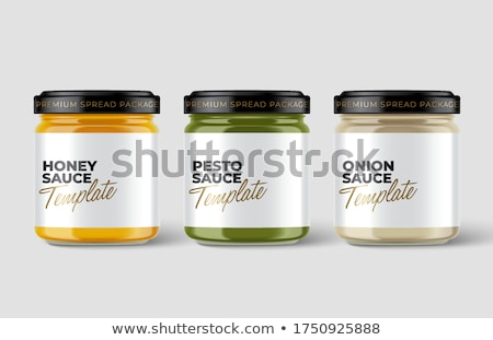 Designed Homemade Jam Glass Bottle Closeup Vector Stock photo © pikepicture