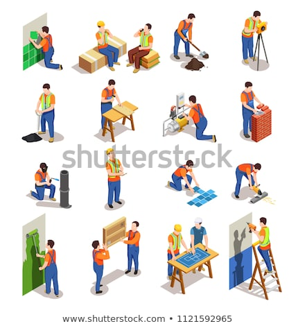 Working People, Builders with Tools and Materials Stock photo © robuart