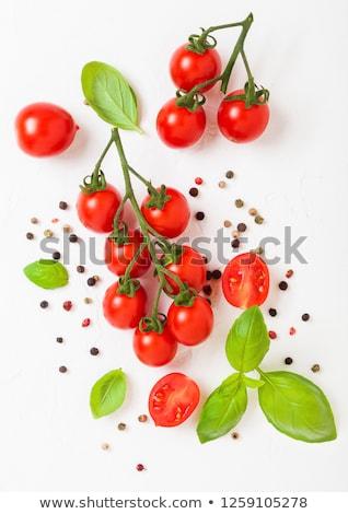 органический Вишневое помидоров винограда базилик перец Сток-фото © DenisMArt