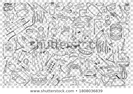 stomatology set pattern stock photo © netkov1