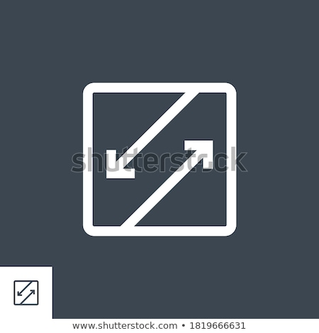 Competing Interests related vector glyph icon. Stock photo © smoki