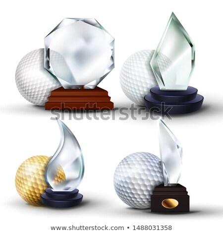 мяч · для · гольфа · гольф · спорт · шаблон · сфере · изолированный - Сток-фото © pikepicture