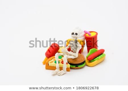 Burger and human hand food ideas for halloween Stock photo © Kzenon