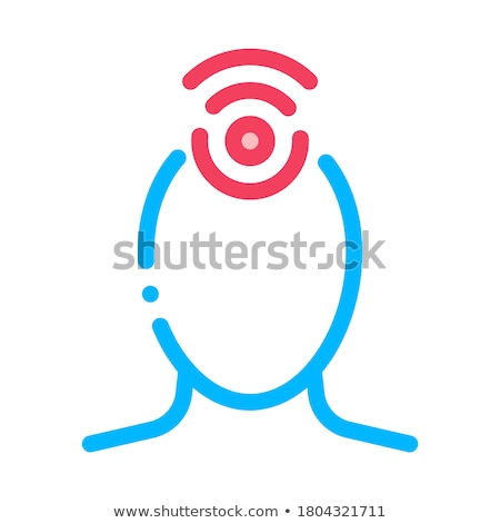 Hypertension Human Head Silhouette Vector Icon Stock photo © pikepicture