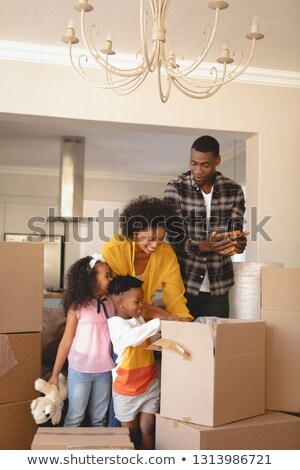 Vorderseite Ansicht glücklich Eltern Kinder Stock foto © wavebreak_media