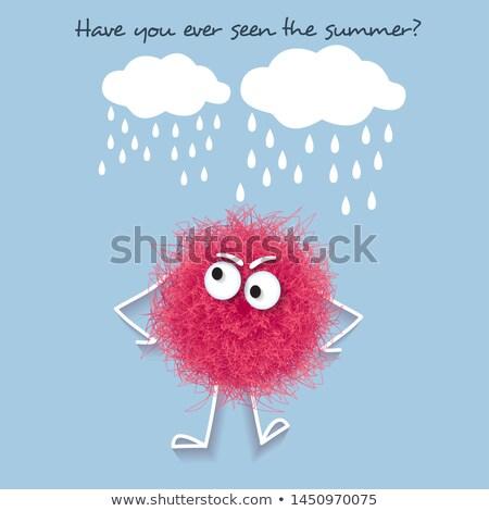 Komik yaz afiş kabarık pembe Stok fotoğraf © balasoiu