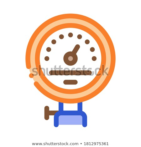 power counter metallurgical icon vector illustration stock photo © pikepicture