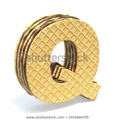 フォント チョコレート クリーム 充填 文字q 3D ストックフォト © djmilic