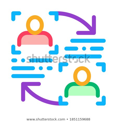 Personality Information Comparison Icon Vector Outline Illustration Stock photo © pikepicture