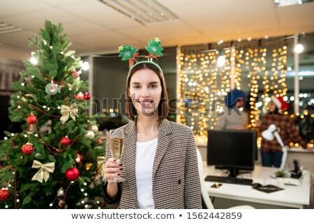 довольно молодые служба менеджера флейта шампанского Сток-фото © pressmaster