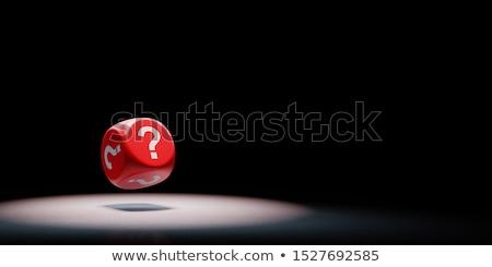 Rosso punto di domanda nero 3D copia spazio illustrazione 3d Foto d'archivio © make
