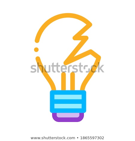 Wrecked Lightbulb Icon Vector Outline Illustration Stock photo © pikepicture