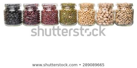 Sojasaus boon glas jar eten Stockfoto © furmanphoto