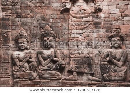 歴史的 岩 芸術 女神 アンコール カンボジア ストックフォト © bbbar