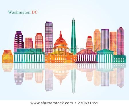Skicc Washington DC városkép kék szín égbolt Stock fotó © ShustrikS