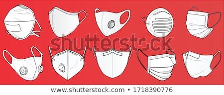 セット 異なる マスク 孤立した 白 作業 ストックフォト © DeCe