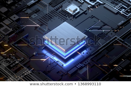 Central Processing Unit, CPU Concept Illustration Stock photo © make