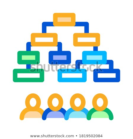 multi-pass algorithm icon vector outline illustration Stock photo © pikepicture