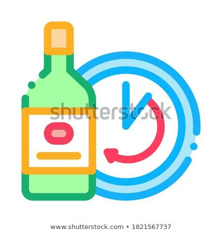 Altern Wein Symbol Vektor Gliederung Illustration Stock foto © pikepicture