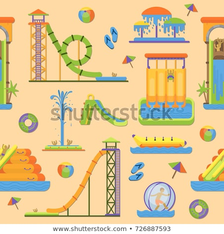 Water Park Attraction Seamless Pattern Vector Stock photo © pikepicture