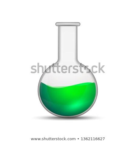 реалистичный химического колба ярко зеленый Сток-фото © evgeny89