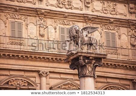 Coluna verona Itália virgem edifício cidade Foto stock © boggy