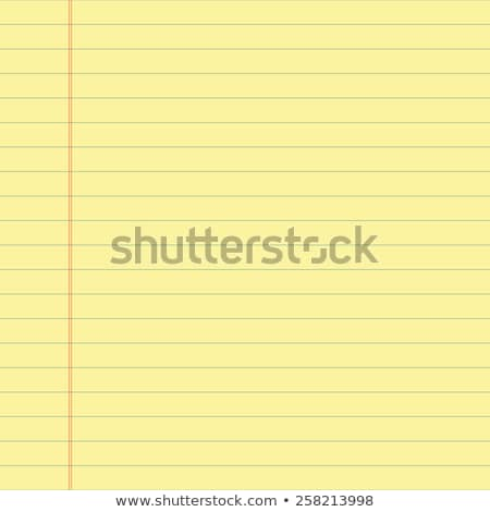 Lined Yellow Paper Stock photo © THP