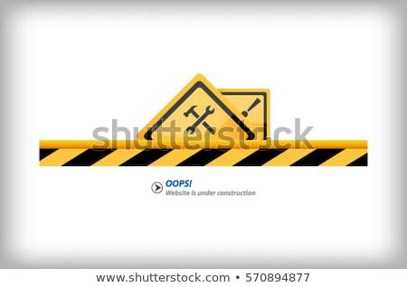 Construction site protection abstract concept vector illustration. Stock photo © RAStudio