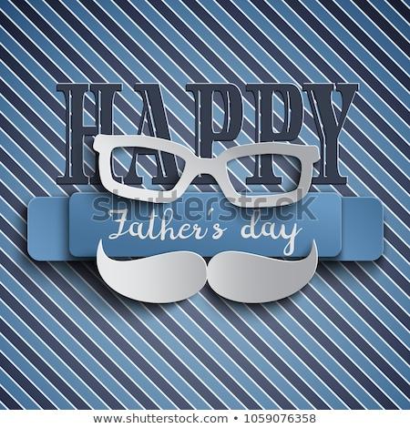 Día de padres feliz elegante 3D bigote hombre Foto stock © SArts