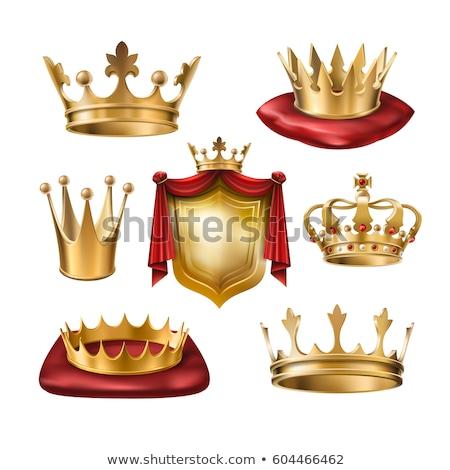 Arany prémium fényes korona királyi király Stock fotó © SArts
