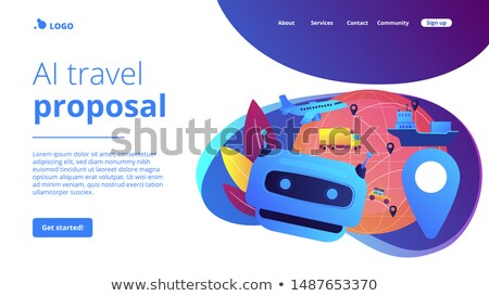AI in travel and transportation concept landing page. Stock photo © RAStudio