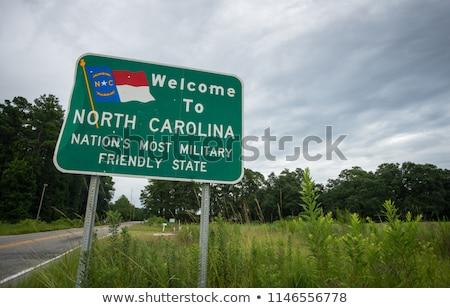 Северная · Каролина · шоссе · знак · зеленый · США · облаке · улице - Сток-фото © kbuntu