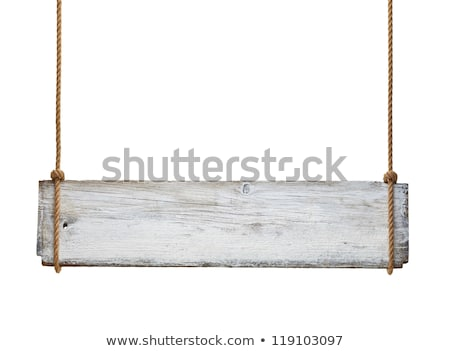 close up of an empty wooden sign on white background stock photo © inxti
