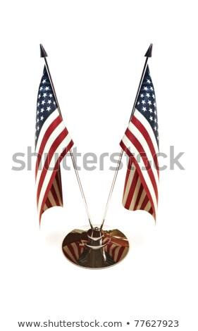 американский миниатюрный флагами изолированный белый 3D Сток-фото © digitalstorm