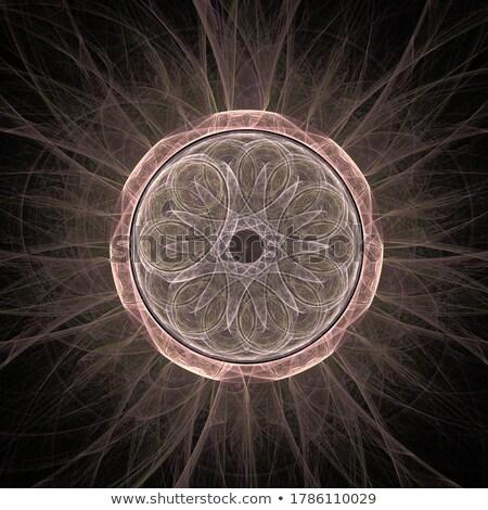 Streszczenie fantastyczny zasłona fractal obraz niebieski Zdjęcia stock © Mikko