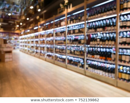 Wine department in supermarket Stock photo © Paha_L